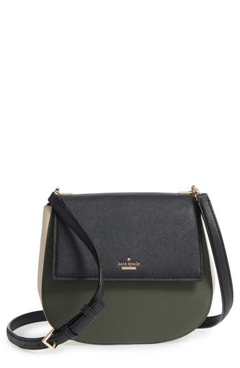 Kate Spade New York Cameron Street - Byrdie Leather Crossbody Bag - Green