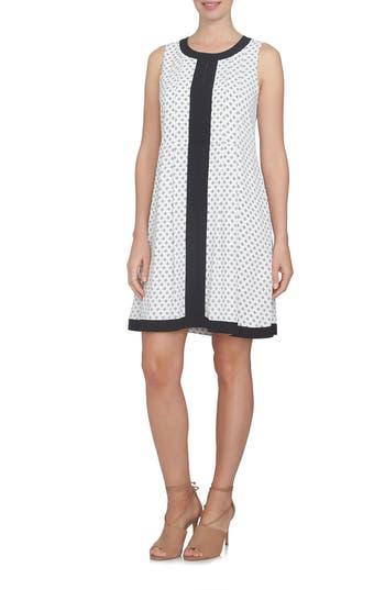 Cece Stencil Foulard Shift Dress