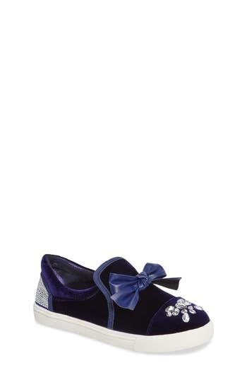 Girl's Badgley Mischka Delight Embellished Slip-On Sneaker