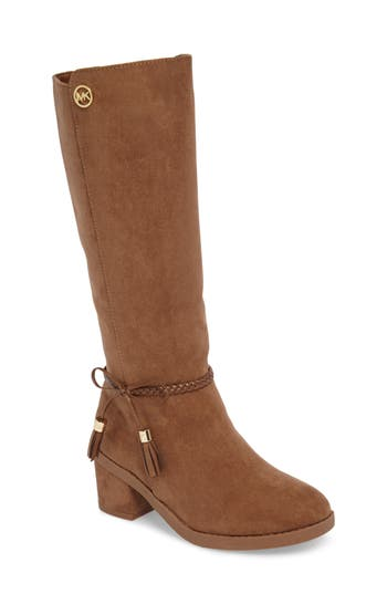 Girl's Michael Michael Kors Fawn Simmy Riding Boot, Size 5 M - Brown