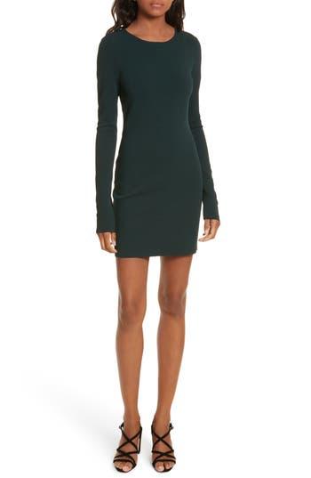 Diane Von Furstenberg Long Sleeve Minidress, Size Petite - Green