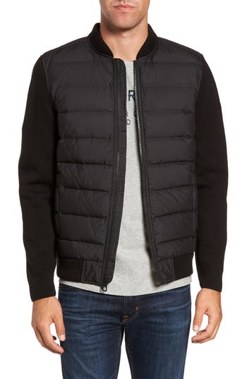 Men's Timberland Diamond River Mixed Media Down Jacket, Size Small - Black