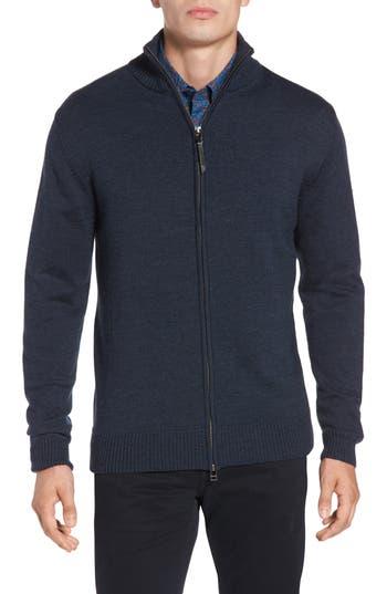 Rodd & Gunn Roaring Meg Zip Wool Sweater, Blue