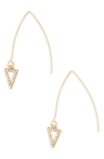 Women's Canvas Jewelry Triangle Pavé Marquise Threader Earrings