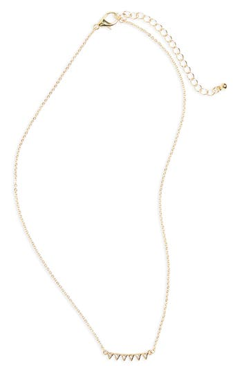 Women's Bp. Triangle Crystal Charm Necklace