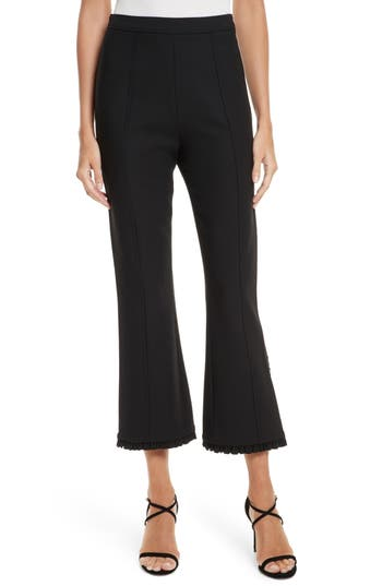Cinq A Sept Seneca Flare Leg Crop Pants, Black
