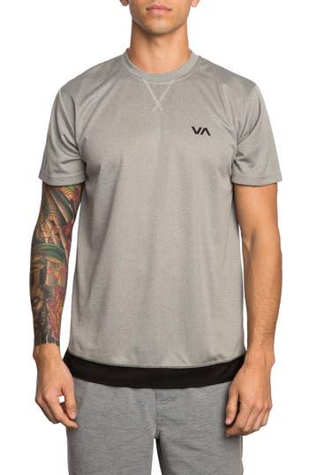 Rvca Runner Mesh T-Shirt, Grey