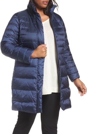 Plus Size Persona By Marina Rinaldi Panda Quilted Puffer Jacket, Blue