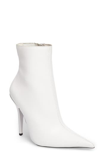 Jeffrey Campbell Vedette Pointy Toe Booties- White