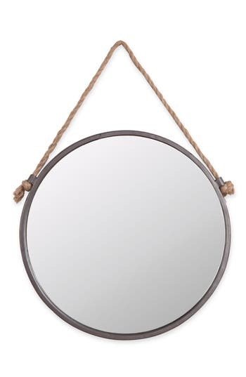 Foreside Round Mirror, Size One Size - Metallic