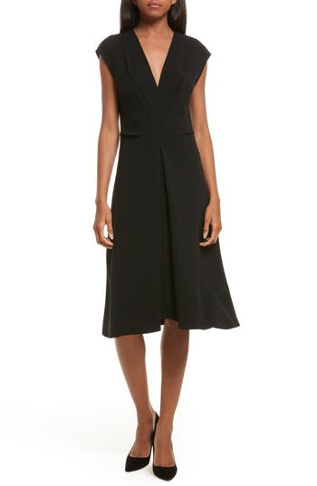 Theory Admiral Crepe A-Line Dress, Black