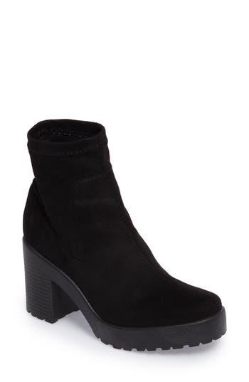 Topshop Brick Sock Boot - Black