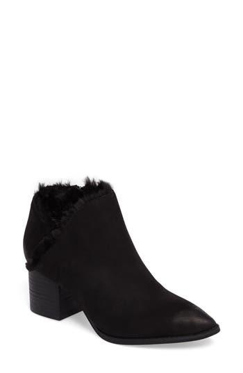 Seychelles Preview Faux Fur Lined Bootie- Black