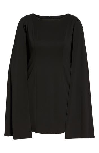 Plus Size Adrianna Papell Cape Sheath Dress