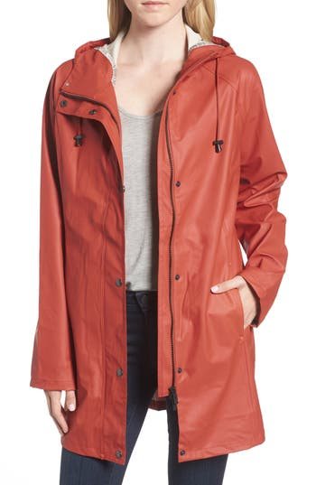 Women's Illse Jacobsen Hornbaek Raincoat, Size 36 - Red