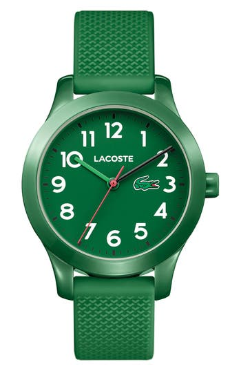 Women's Lacoste Kids 12.12 Silicone Strap Watch, 32Mm at NORDSTROM.com