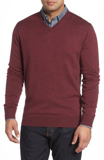 Peter Millar Merino Sweater, Burgundy