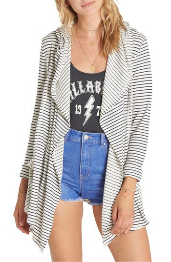 Billabong Make Way Hooded Cardigan, White