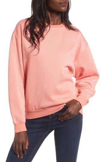 Topshop Sloppy Sweatshirt, US (fits like 0) - Coral
