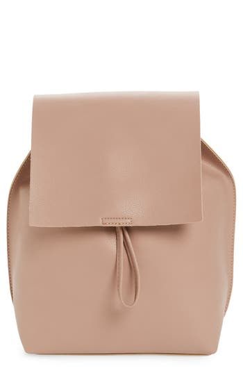 Street Level Faux Leather Backpack - Pink