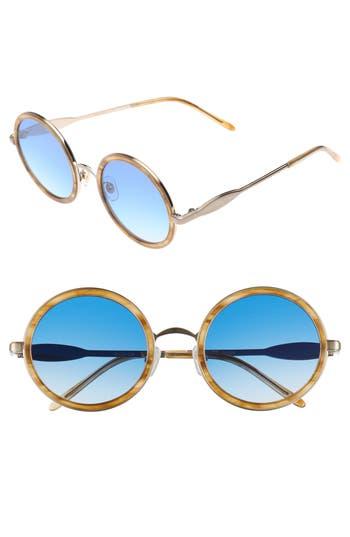 Wildfox Ryder Zero 4m Flat Round Sunglasses - Sierra Tortoise