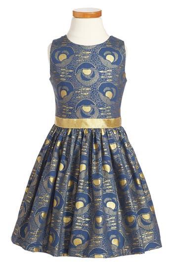 Girl's Fiveloaves Twofish Mollie Art Noveau Party Dress