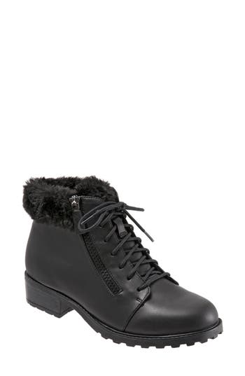 Trotters Below Zero Waterproof Winter Bootie N - Black