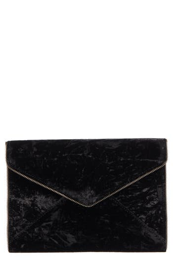 Rebecca Minkoff Leo Velvet Envelope Clutch - Black