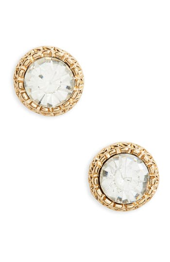 Women's Bp. Crystal Etched Stud Earrings