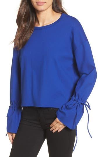 Halogen Cinch Cuff Sweatshirt, Blue