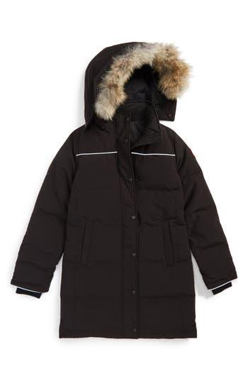 Canada Goose Girls Juniper FurTrimmed Hooded Parka  Big Kid