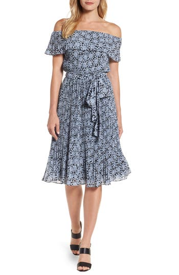 Michael Michael Kors Jewel Pleat Dress, Blue