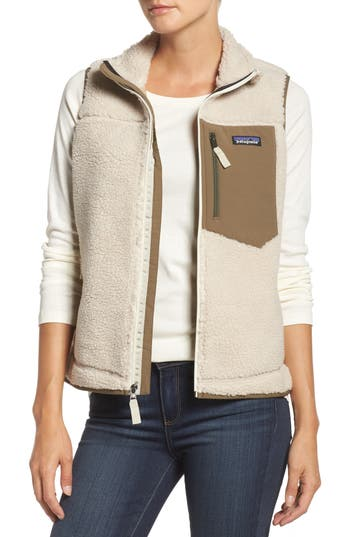 Women's Patagonia Classic Retro-X Fleece Vest, Size X-Small - Ivory