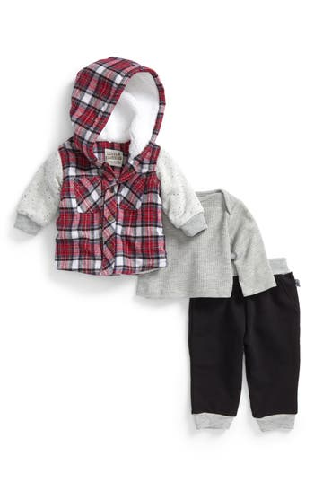 Infant Boys Little Brother By Pippa  Julie Hooded Jacket Knit Top  Sweatpants Set