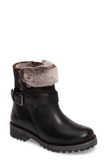 Bos. & Co. Cluster Faux Shearling Waterproof Boot - Black
