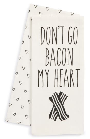 Levtex Don'T Go Bacon My Heart Set Of 2 Dish Towels, Size One Size - Ivory