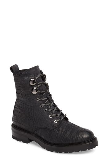 Frye Julie Hook Combat Boot, Black