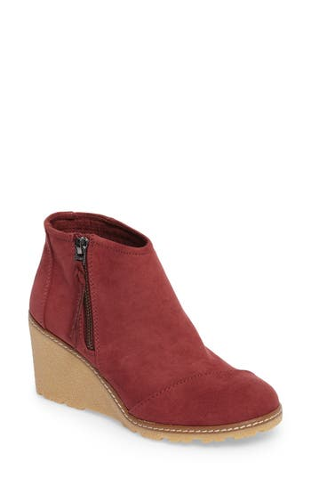 Toms Avery Wedge Bootie, Burgundy
