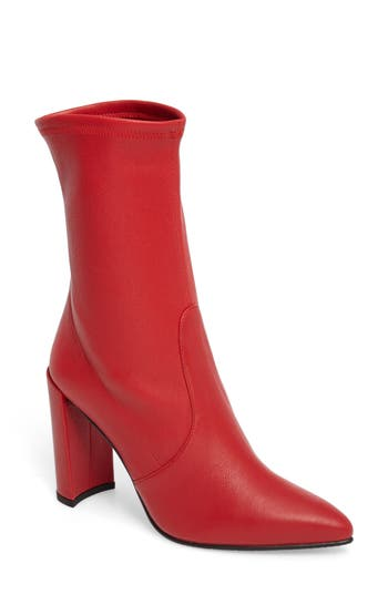 Stuart Weitzman Clinger Stretch Bootie, Red