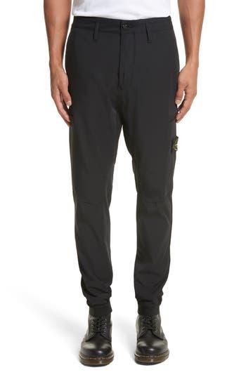 Stone Island Cargo Jogger Pants, Black