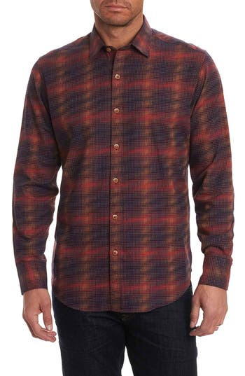 Men's Robert Graham Plaid Classic Fit Flannel Sport Shirt