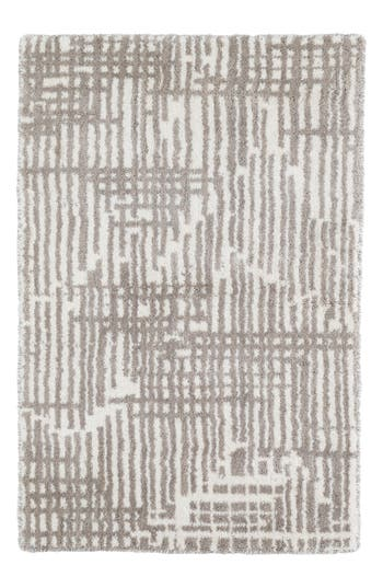 Dash & Albert Wright Knotted Wool Rug, Size Swatch - Grey