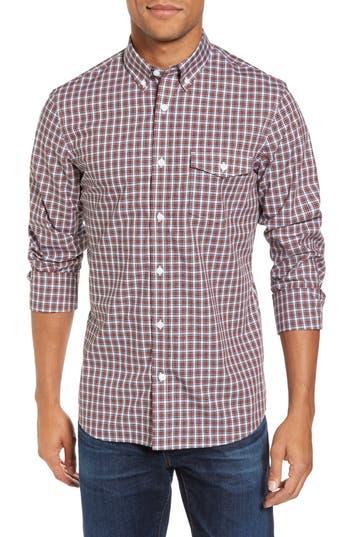 Men's Nordstrom Men's Shop Ivy Trim Fit Non-Iron Tartan Plaid Sport Shirt