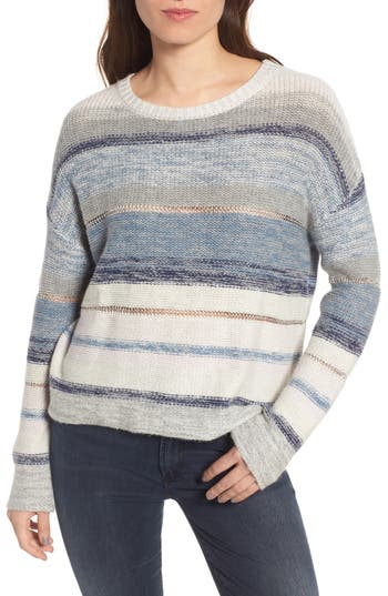 Rails Daphne Stripe Wool & Cashmere Sweater, Blue