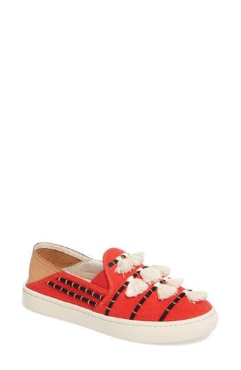 Soludos Tassel Slip-On Sneaker, Red