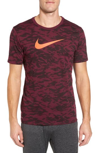 Nike Basketball Attack Logo T-Shirt, Burgundy