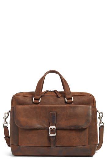 Frye Oliver Leather Briefcase - Brown