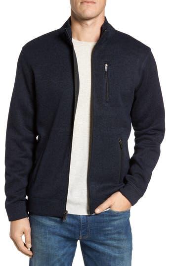 Tailor Vintage Sweater Knit Fleece Zip Front Jacket, Blue