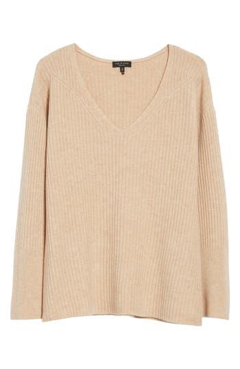 Rag & Bone Mitchell Merino Wool Sweater, Beige