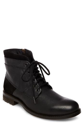 Steve Madden Hardin Plain Toe Boot- Black